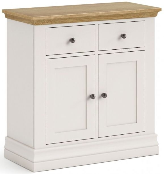 Corndell Annecy Painted Sideboard with Oak Top - Mini 2 Drawer