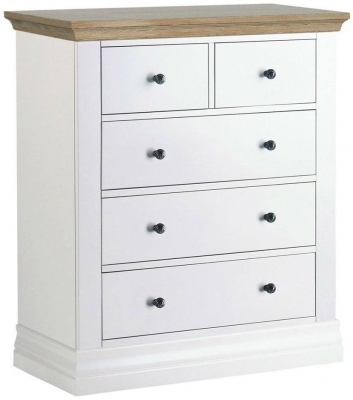 Corndell Annecy Oak Top 2 + 3 Chest of Drawer