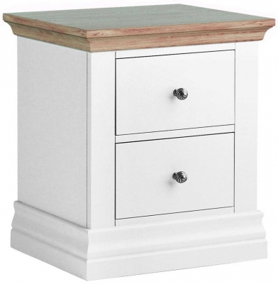 Corndell Annecy Oak Top 2 Drawer Bedside Cabinet