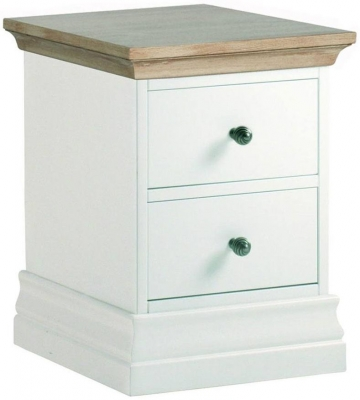 Corndell Annecy Oak Top Narrow Bedside Cabinet