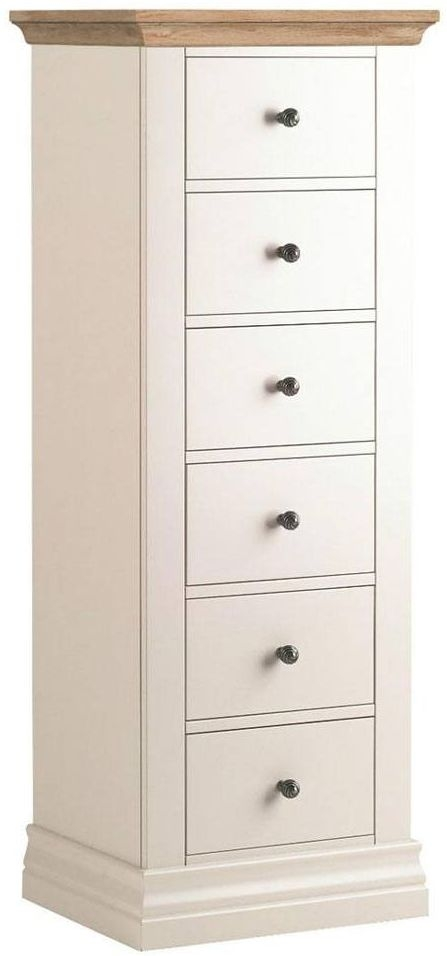 Corndell Annecy Oak Top 6 Drawer Tallboy
