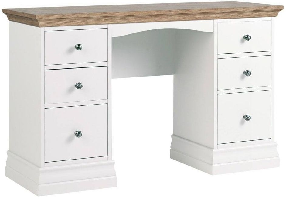 Corndell Annecy Oak Top Double Pedestal Dressing Table