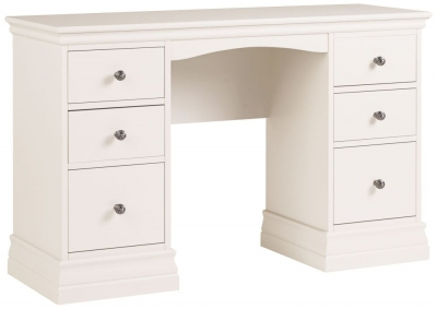 Corndell Annecy Buttermilk Double Pedestal Dressing Table