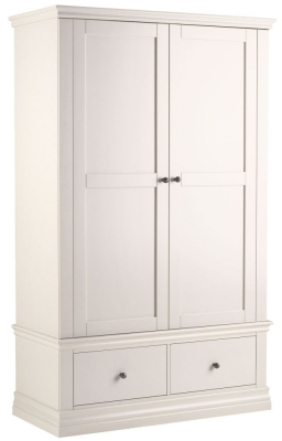 Corndell Annecy Buttermilk Double Wardrobe with 2 Drawers
