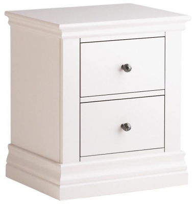 Corndell Annecy Cotton Painted 2 Drawer Bedside Cabinet