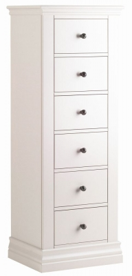 Corndell Annecy Cotton Painted 6 Drawer Tallboy Chest