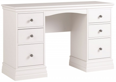 Corndell Annecy Cotton Painted Double Pedestal Dressing Table