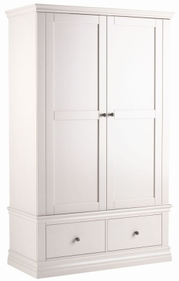 Corndell Annecy Cotton Double Wardrobe with 2 Drawers