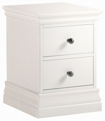 Corndell Annecy Cotton Painted 2 Drawer Narrow Bedside Cabinet