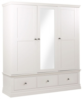 Corndell Annecy Cotton Painted 3 Door Combi Wardrobe