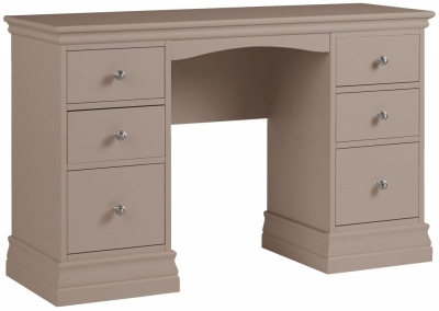 Corndell Annecy Fawn Double Pedestal Dressing Table