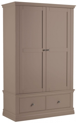 Corndell Annecy Fawn Double Wardrobe with 2 Drawers