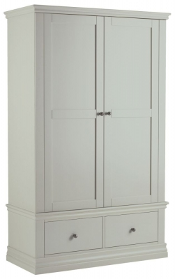 Corndell Annecy Haze Double Wardrobe with 2 Drawers