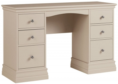 Corndell Annecy Taupe Double Pedestal Dressing Table