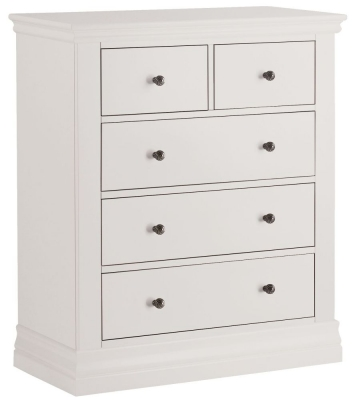 Corndell Annecy White 2 + 3 Chest of Drawer