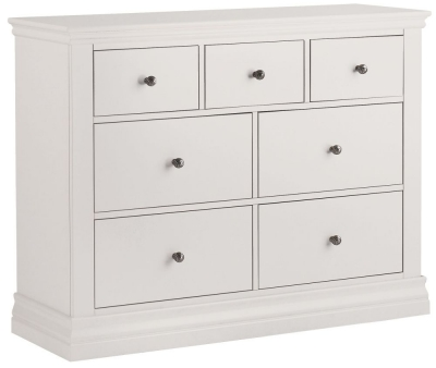 Corndell Annecy White 3 + 4 Chest of Drawer