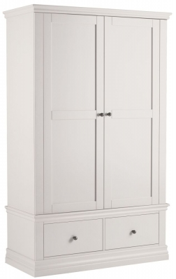 Corndell Annecy White Double Wardrobe with 2 Drawers