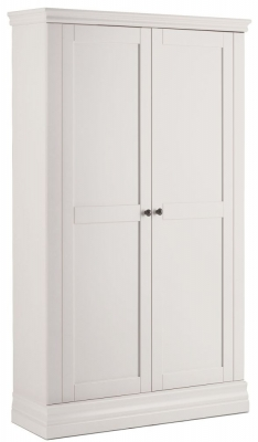Corndell Annecy White Painted 2 Door Double Wardrobe
