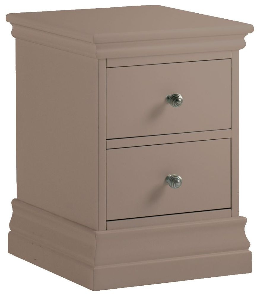 Corndell Annecy Fawn Narrow Bedside Cabinet