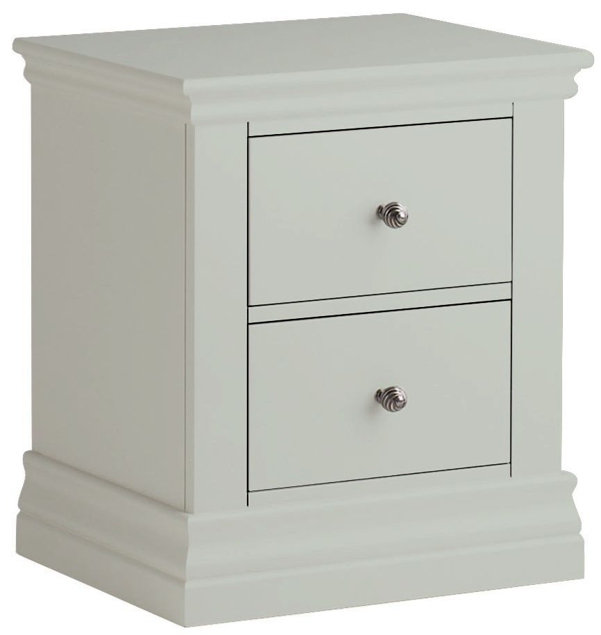 Corndell Annecy Haze 2 Drawer Bedside Cabinet