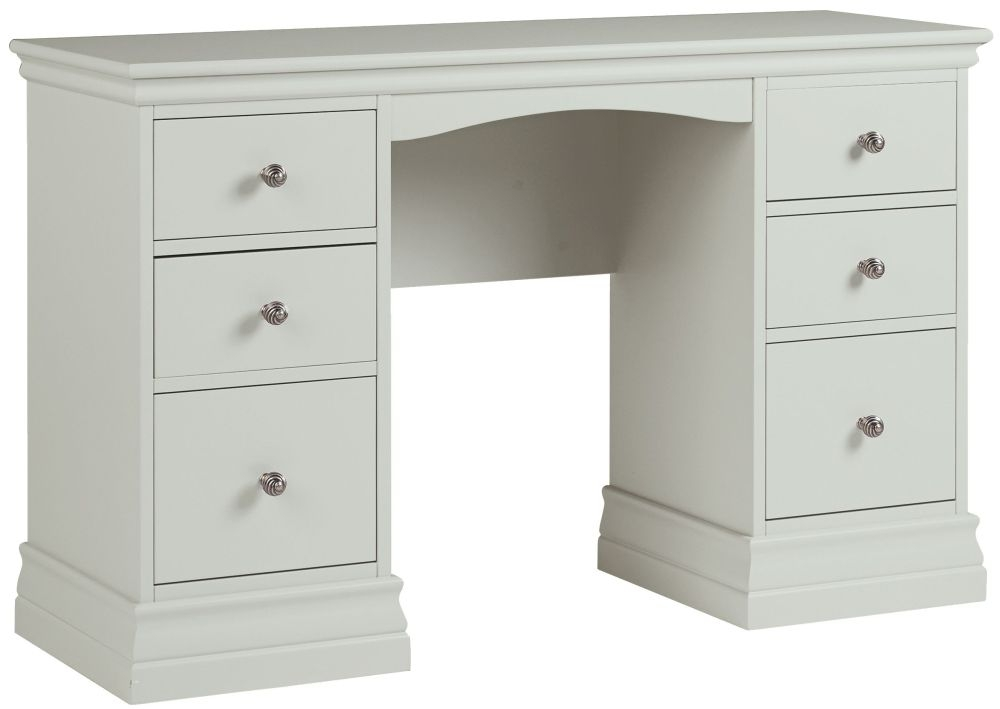 Corndell Annecy Haze Double Pedestal Dressing Table