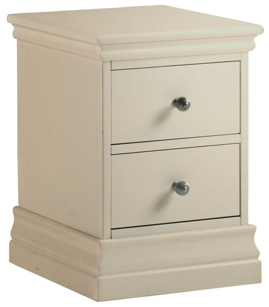 Corndell Annecy Ledum 2 Drawer Narrow Bedside Cabinet