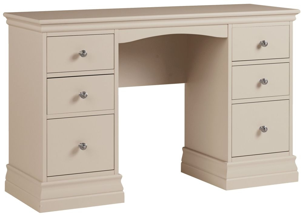Corndell Annecy Tapue Double Pedestal Dressing Table