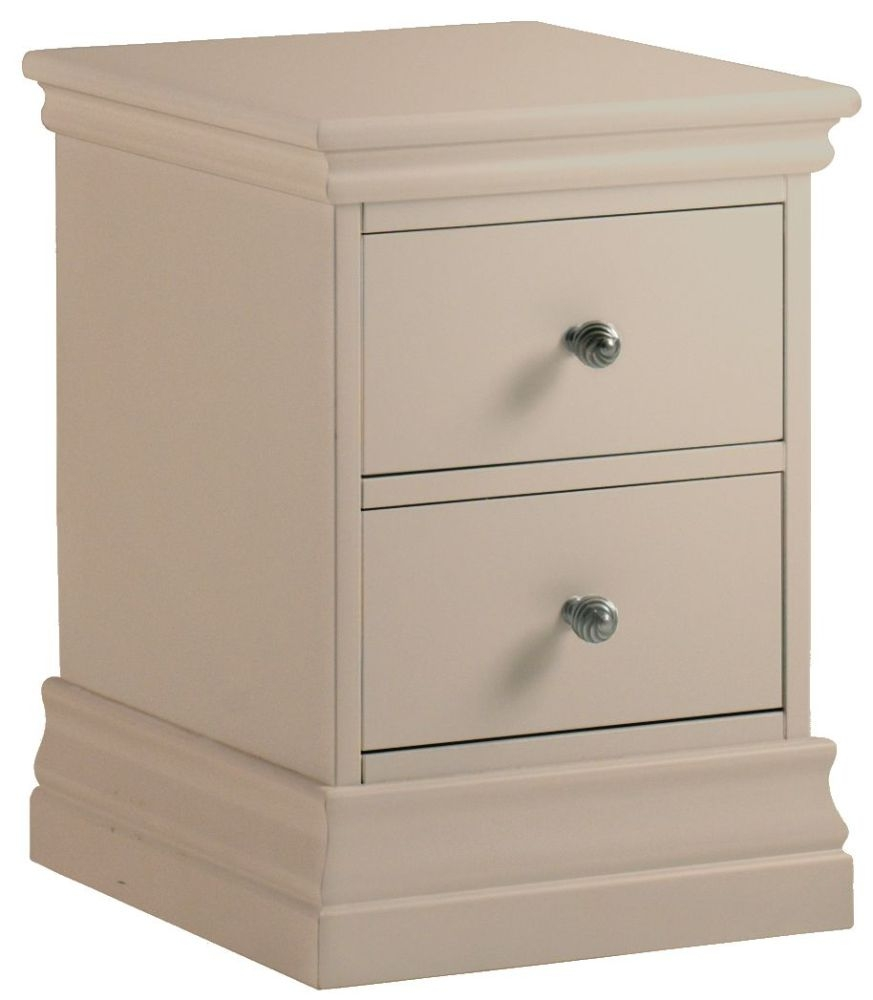 Corndell Annecy Taupe Narrow Bedside Cabinet