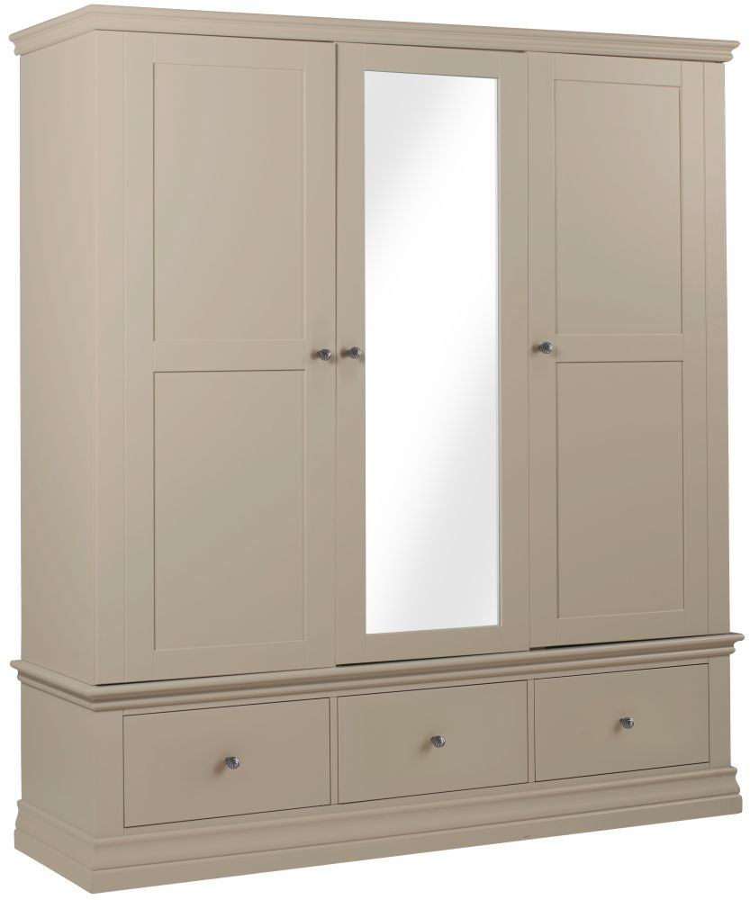 Corndell Annecy Taupe Triple Wardrobe
