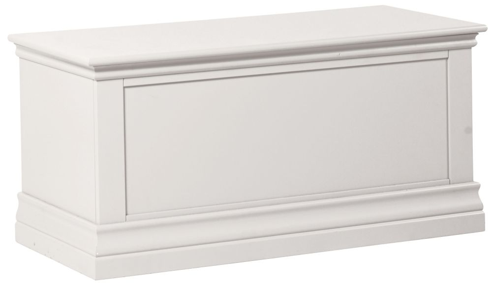 Corndell Annecy White Blanket Box