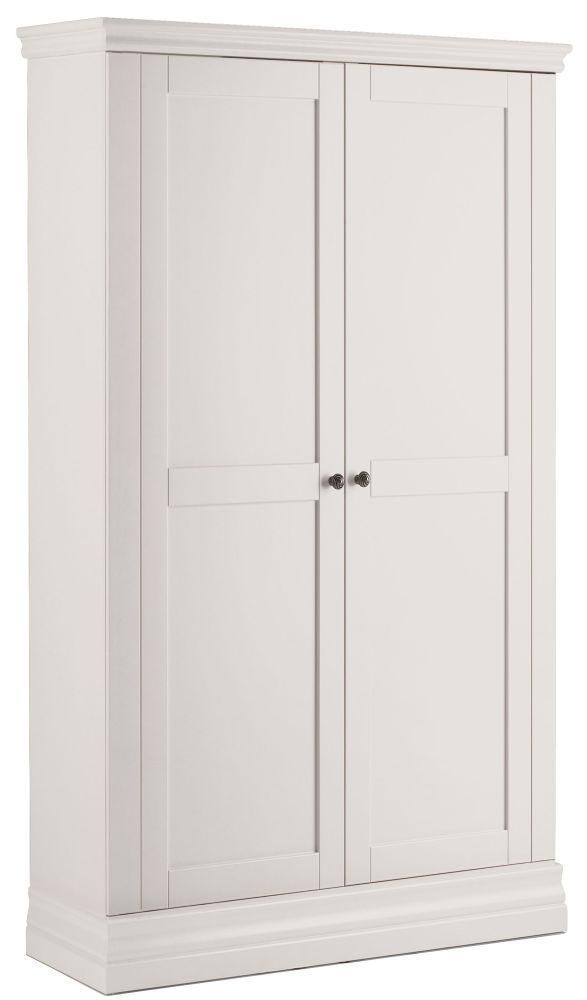 Corndell Annecy White Narrow Wardrobe