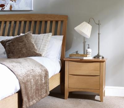 Corndell Arlingham Oak Wide Bedside Cabinet