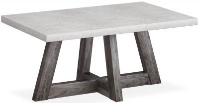 Corndell Austin White Concrete Coffee Table