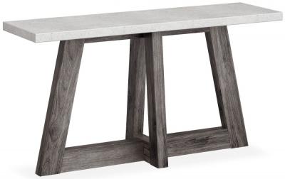 Corndell Austin White Concrete Console Table