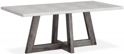 Corndell Austin 190cm White Concrete Dining Table