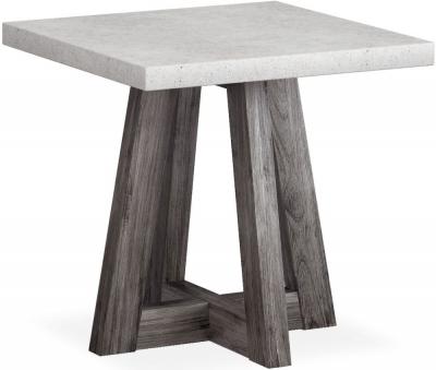 Corndell Austin White Concrete Lamp Table