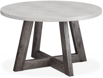 Corndell Austin 130cm White Concrete Round Dining Table