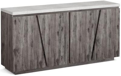 Corndell Austin White Concrete Sideboard