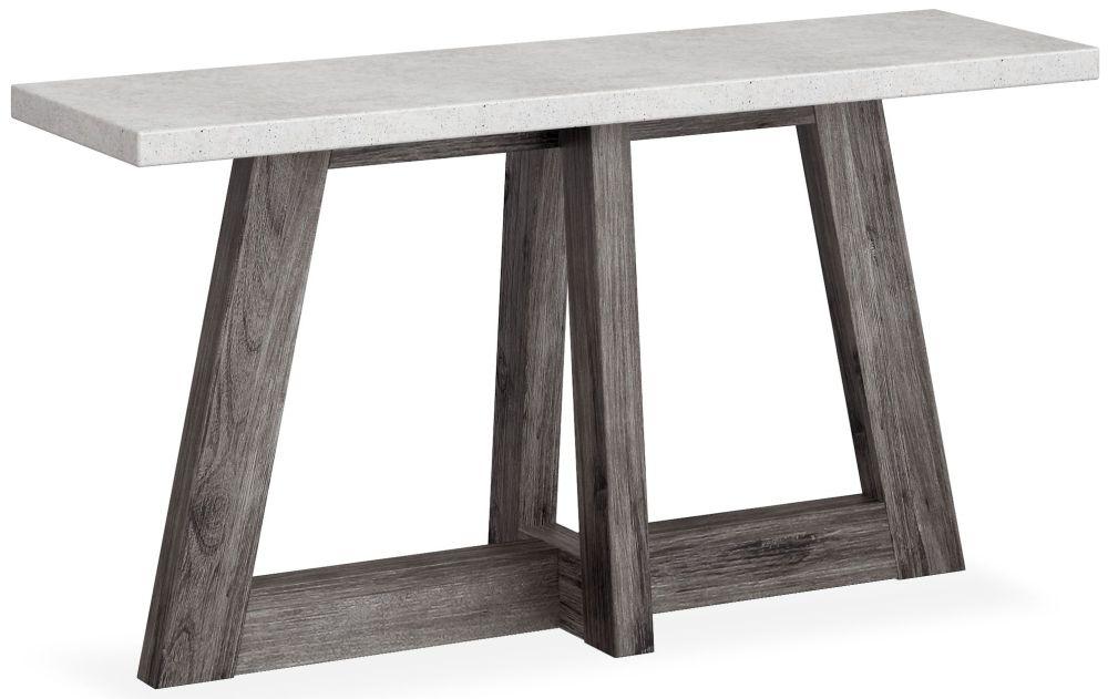 Corndell Austin Console Table - Faux Concrete and Acacia