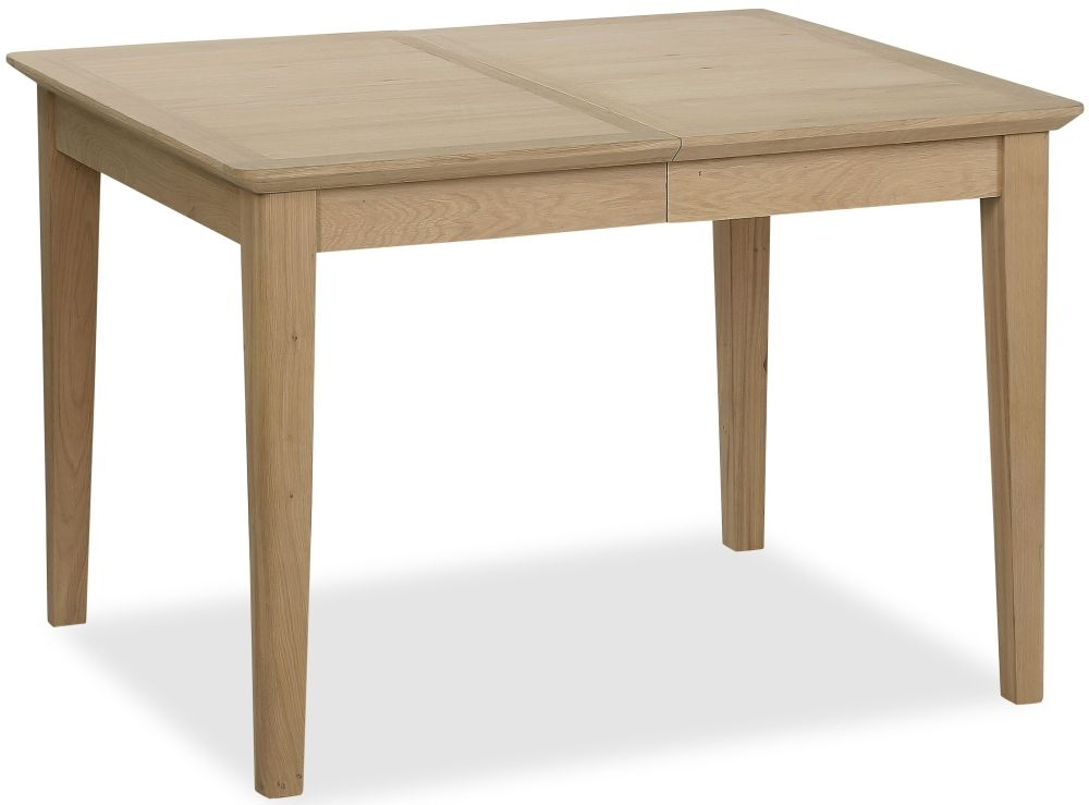 Corndell Blenheim Oak Compact Dining Table - 110cm-150cm Rectangular Extending