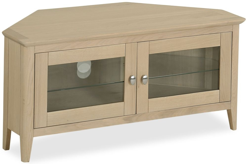 Corndell Blenheim Oak Corner TV Unit - 2 Door