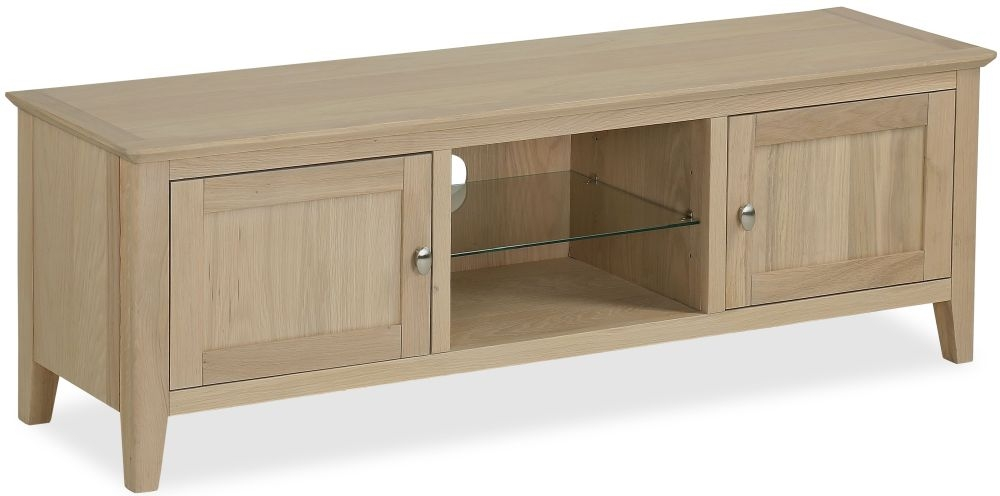 Corndell Blenheim Oak TV Unit - Large 2 Door