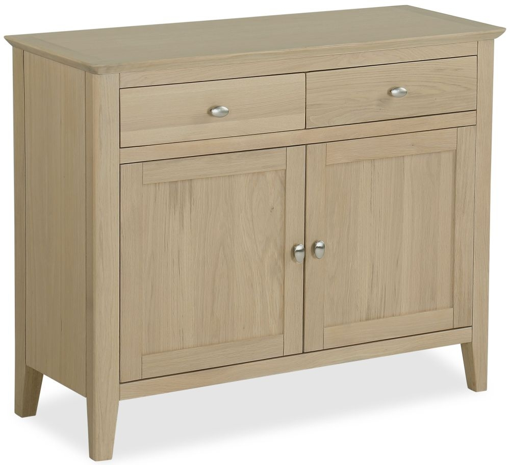 Corndell Blenheim Oak Sideboard - Small Narrow 2 Drawer