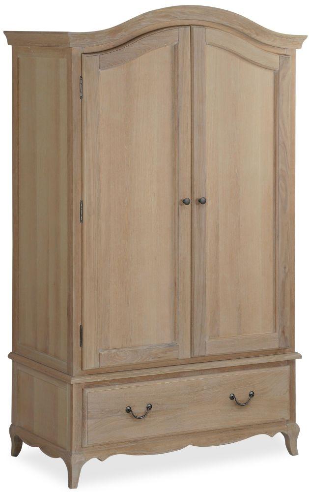 Corndell Cheltenham Oak 2 Door 1 Drawer Combi Wardrobe
