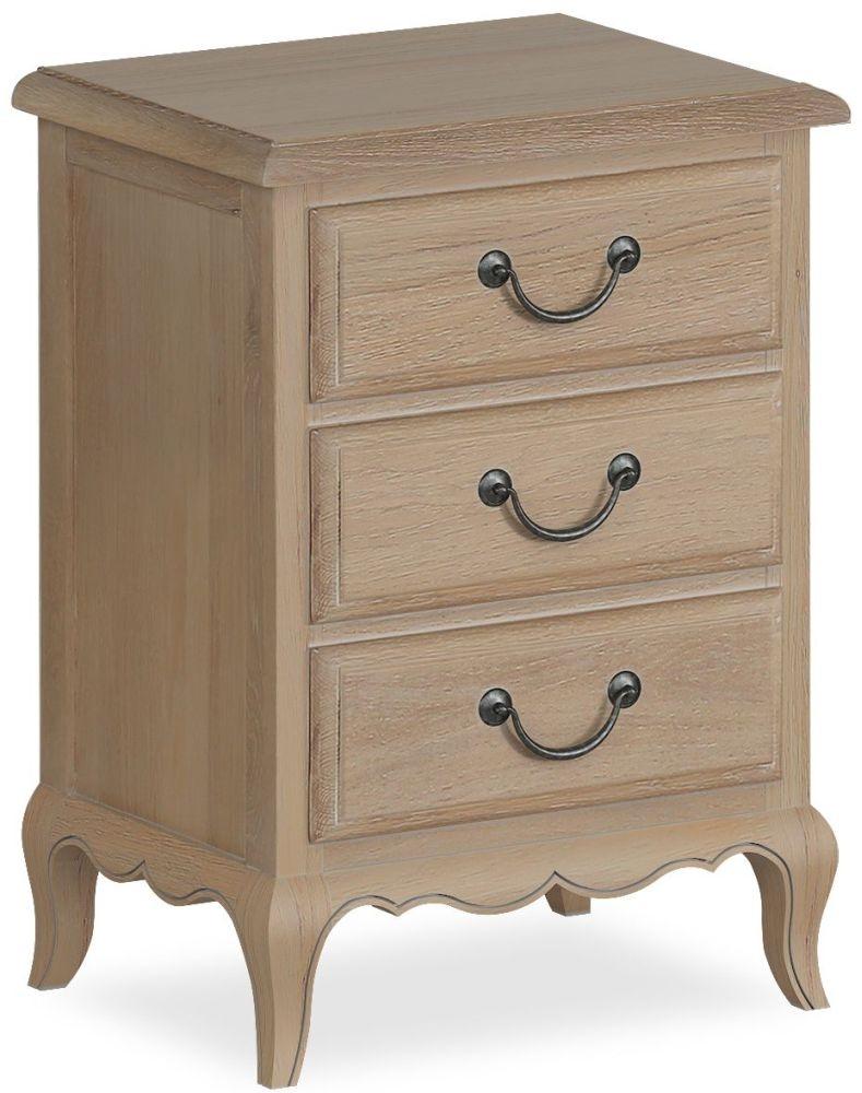 Corndell Cheltenham Oak 3 Drawer Bedside Cabinet