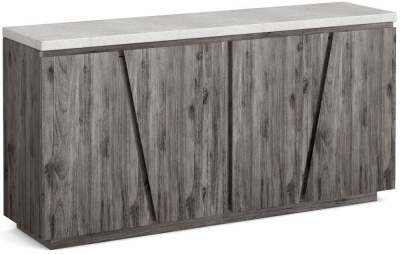 Clearance - Corndell Austin White Concrete Sideboard - New - FSS9072