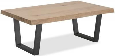 Clearance - Corndell Oak Mill White Oiled Oak Coffee Table - New - E-822 / E-825