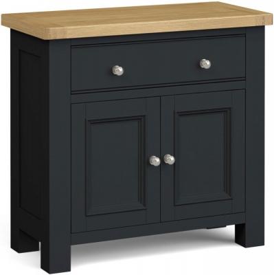 Corndell Daylesford 2 Door 1 Drawer Mini Sideboard - Oak and Charcoal