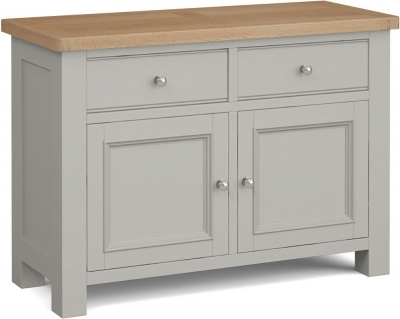 Corndell Daylesford 2 Door 2 Drawer Small Sideboard - Oak and Pebble Grey