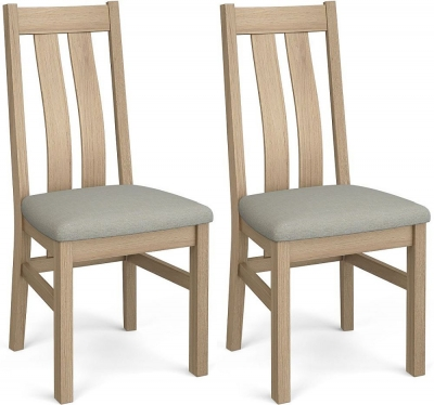 Corndell Daylesford 2 Slat Dining Chair - Oak (Pair)